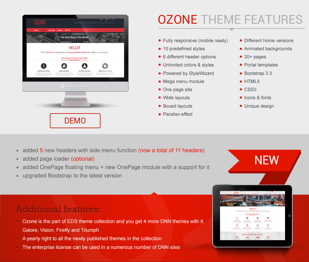 DNN Store > Home > Product Details > EDS Theme and Module Collection ...